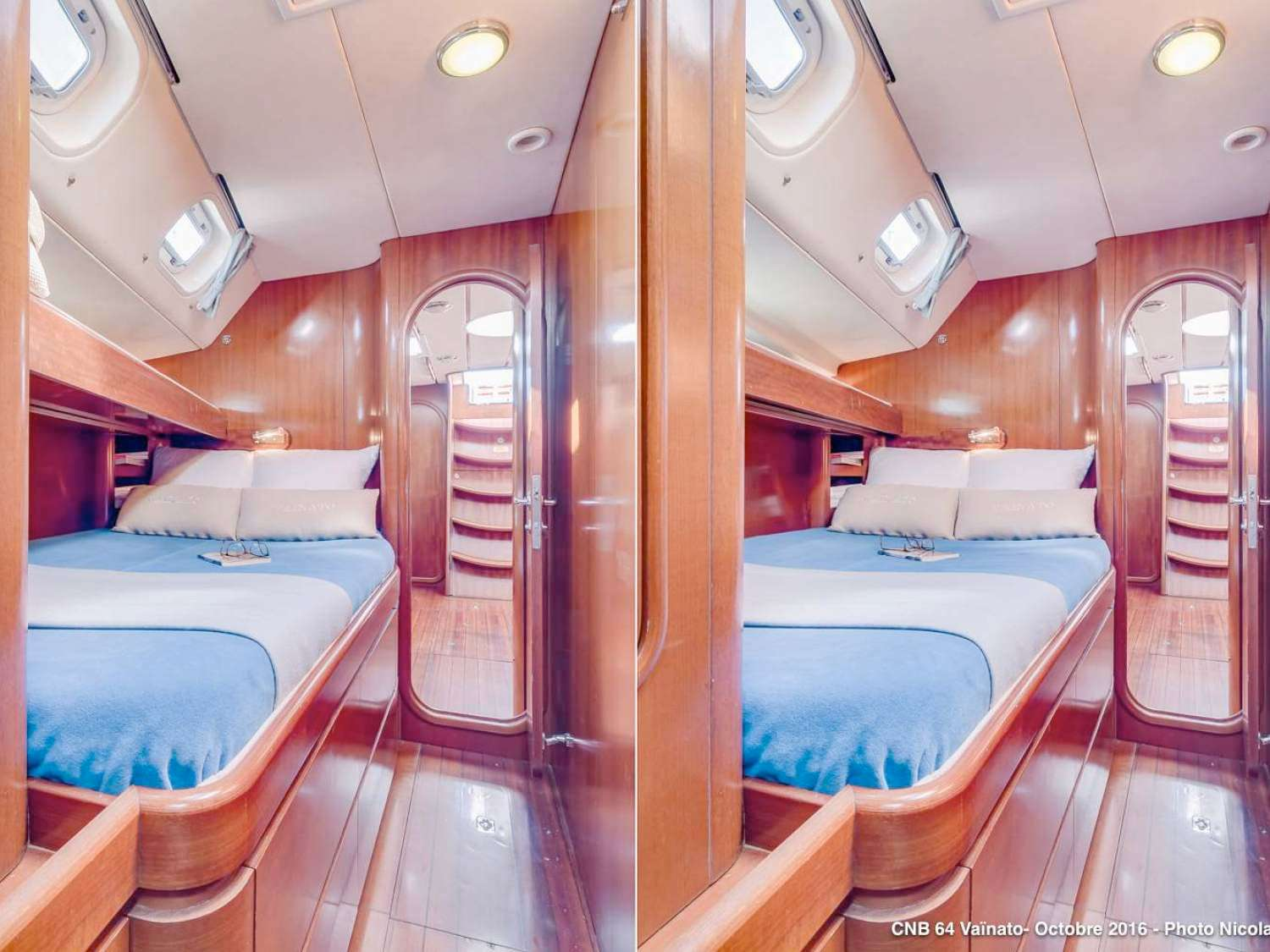 Starboard cabin with & without bunkbed