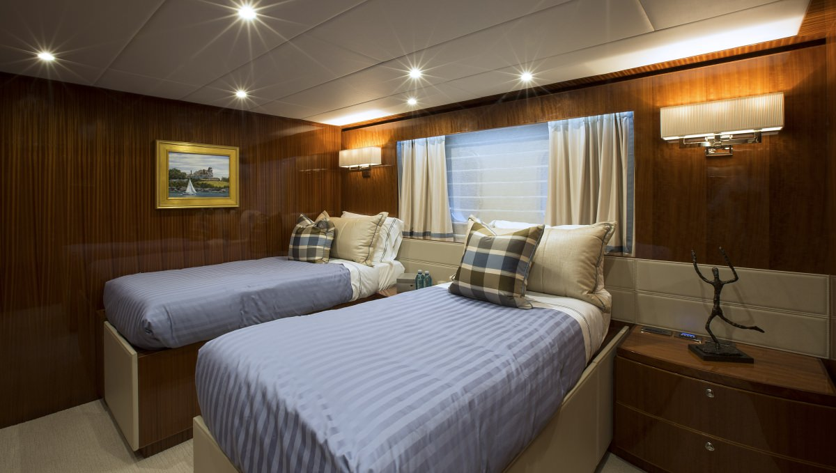 King Bed Stateroom that Converts to Twins