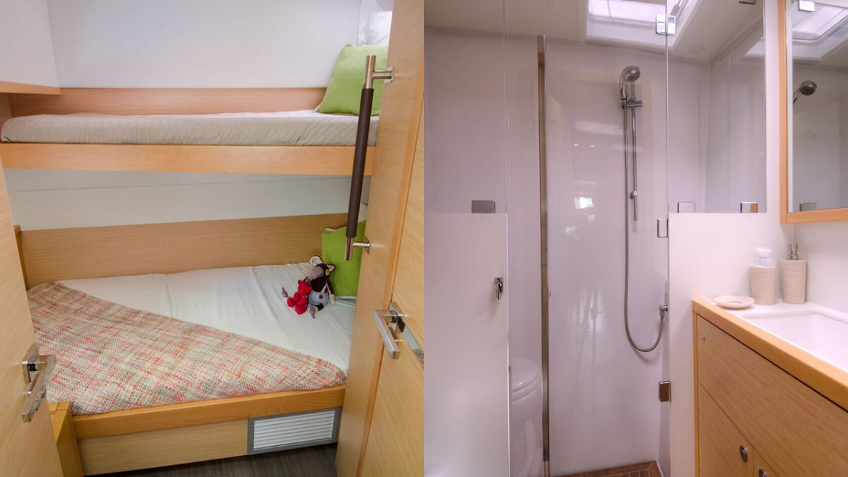 Upper & Lower guest suite & guest head