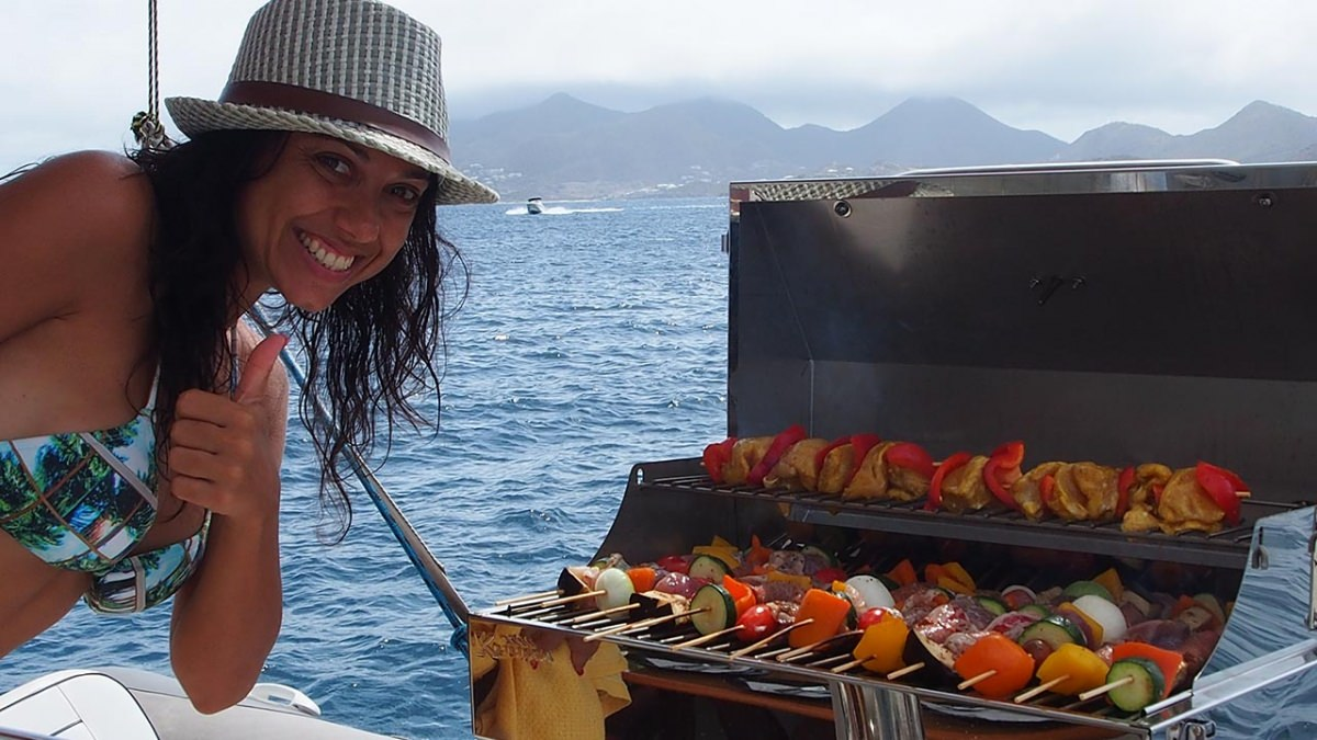 Grilling on the aft
