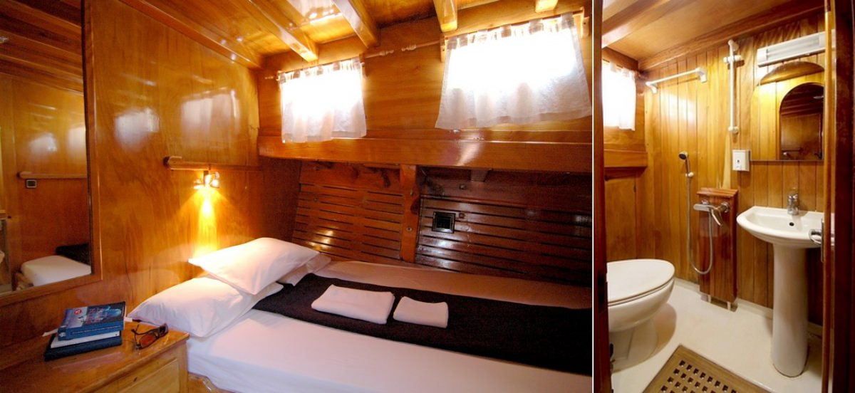 Other cabins have private toilet with simple WC / shower