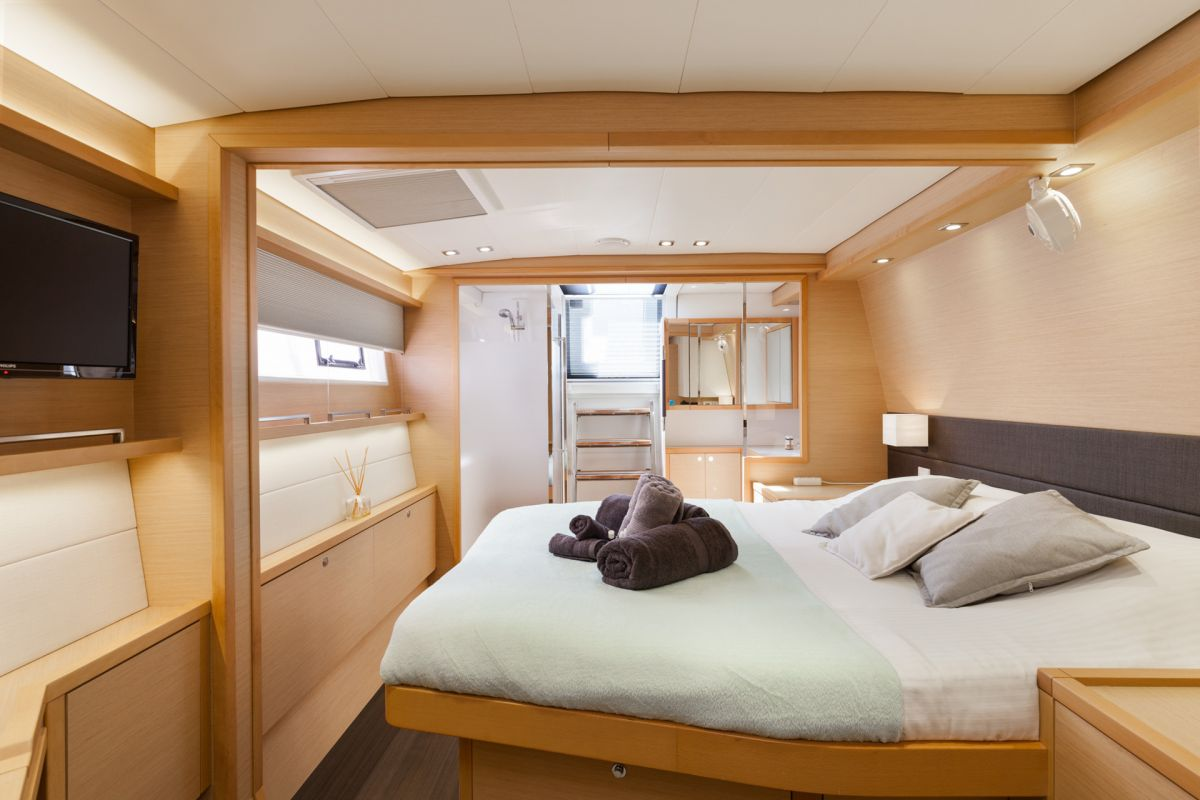 Starboard Aft Master Cabin has direct access