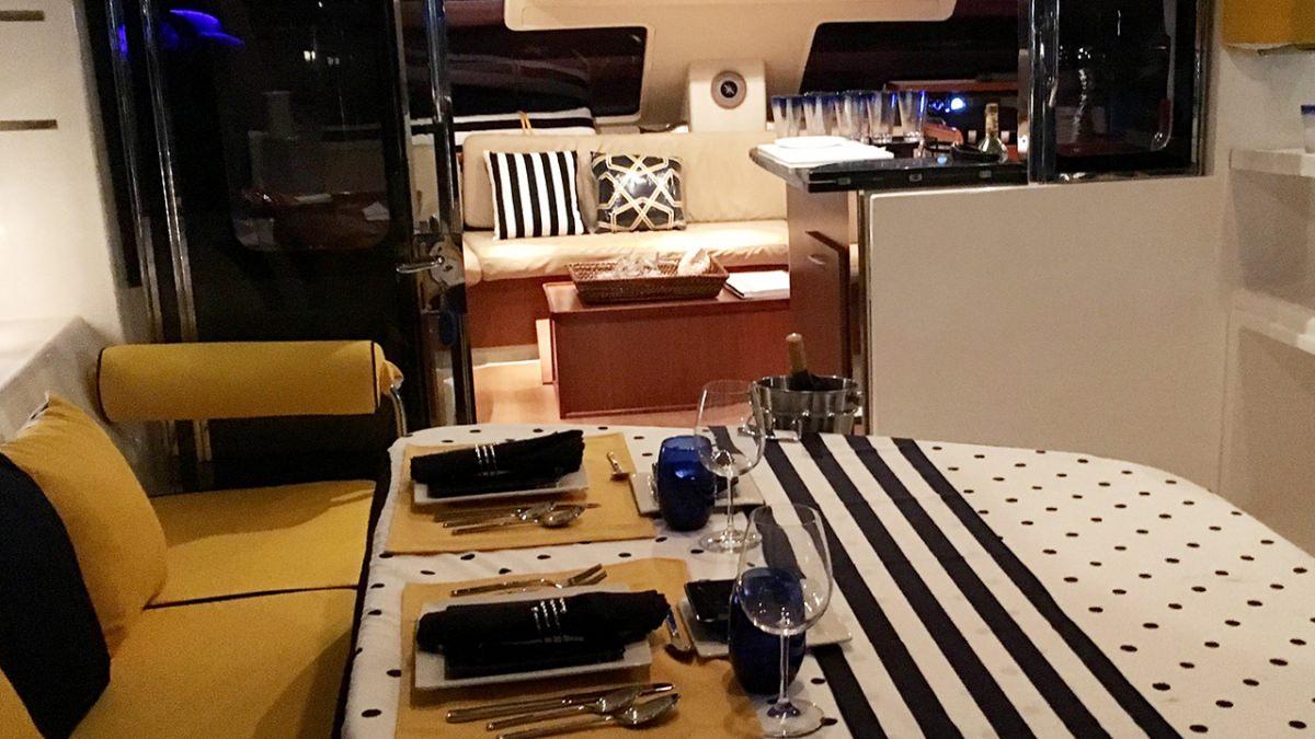 Alfresco dining by night