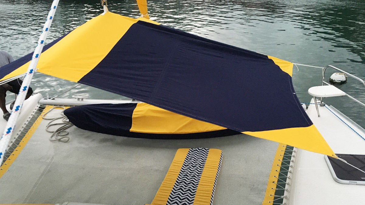 The trampolines with bimini sun awning