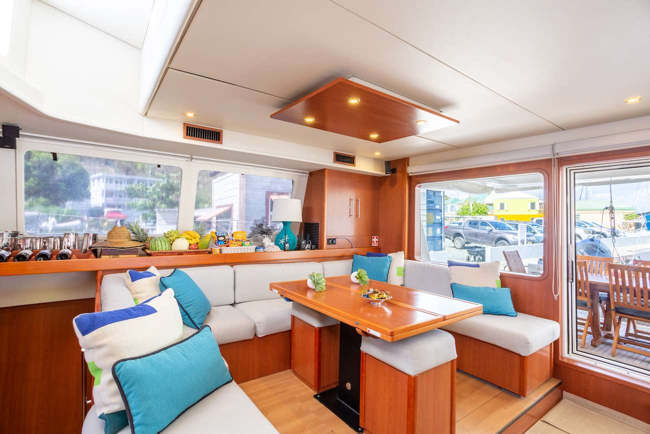 Large salon opening to aft deck