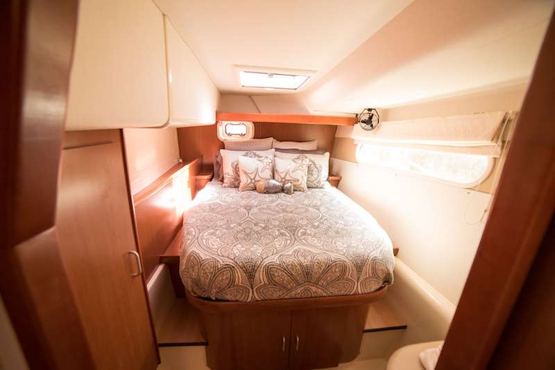 Beautiful bed linens create a beautiful experience on board