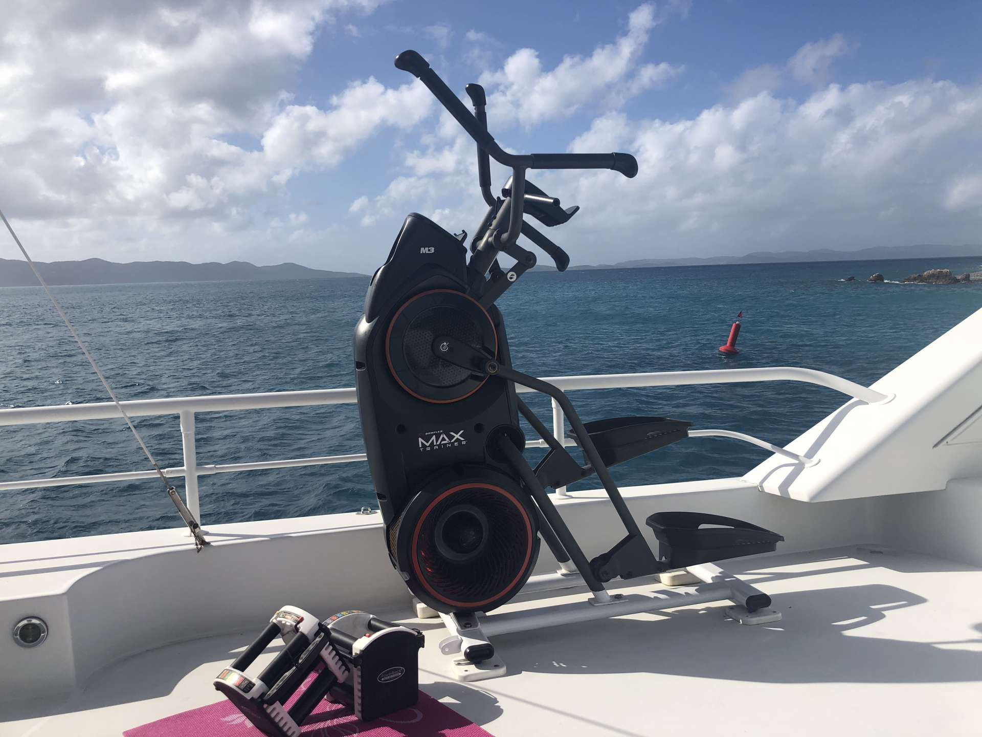 Exercise on the deck