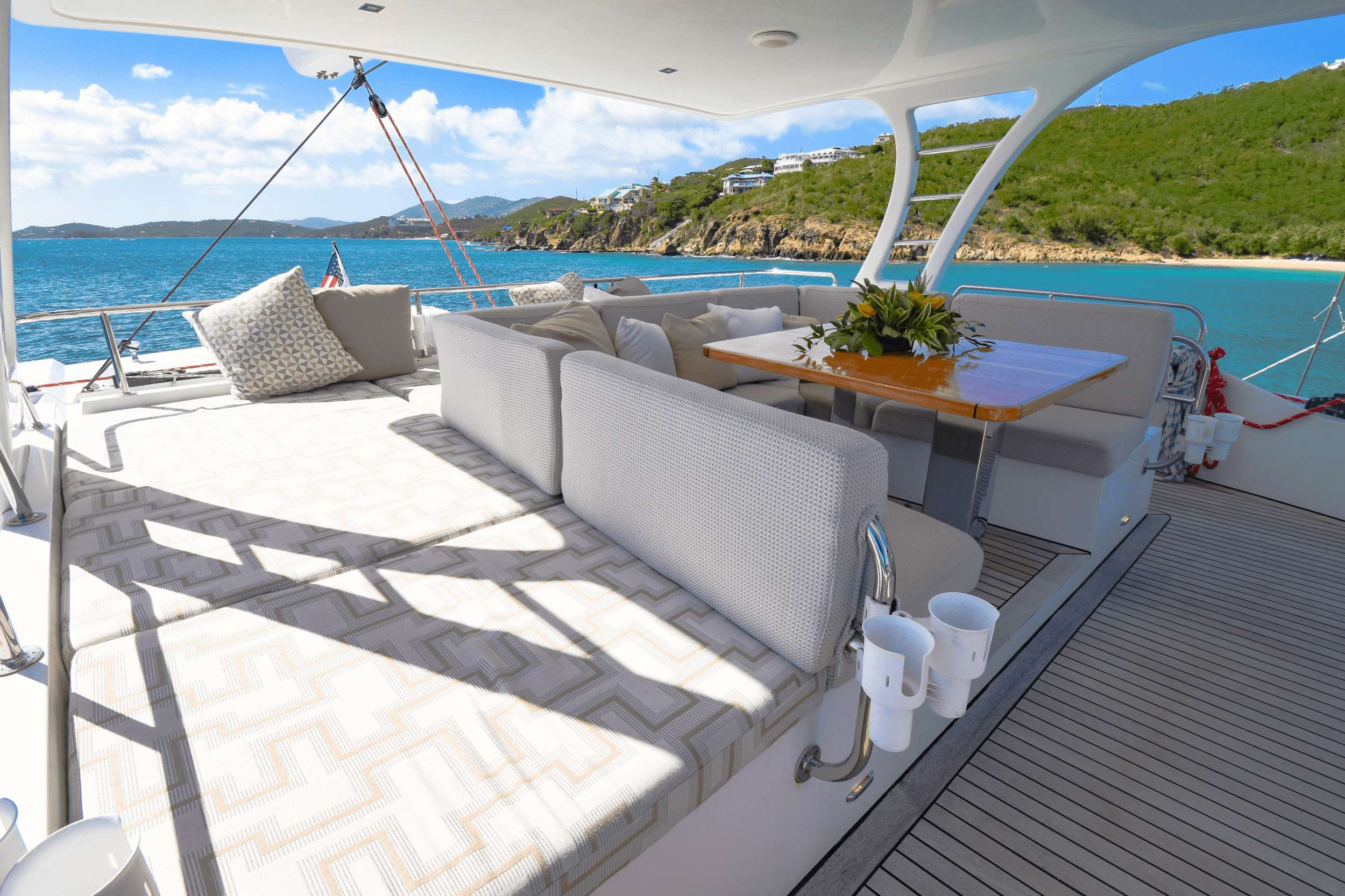 Aft deck lounge and alfresco dining