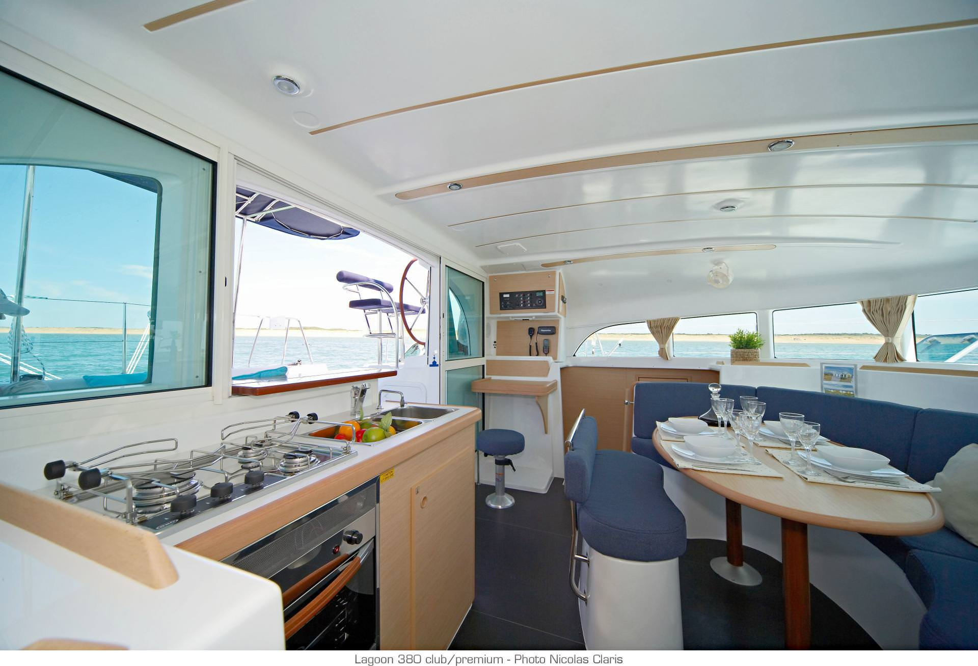 Spacious galley and salon