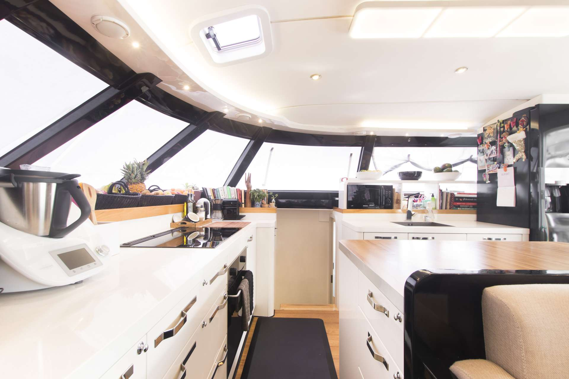Salon and large galley