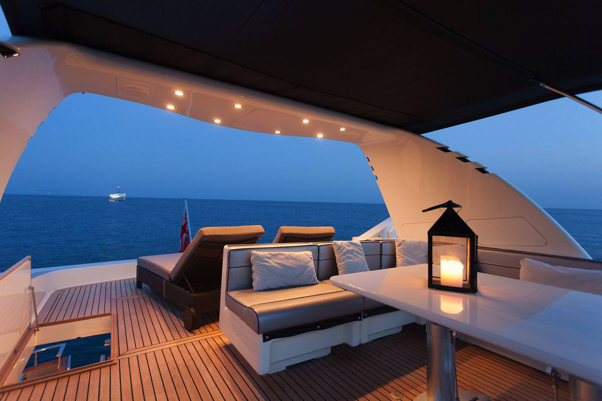 sundeck in the night