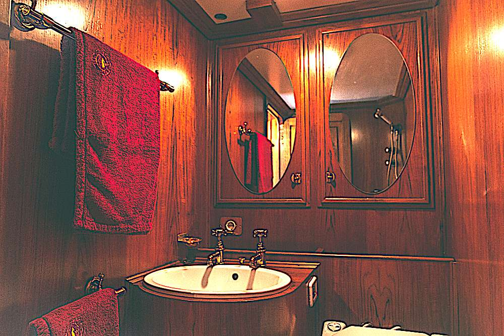 Guest cabin shower room