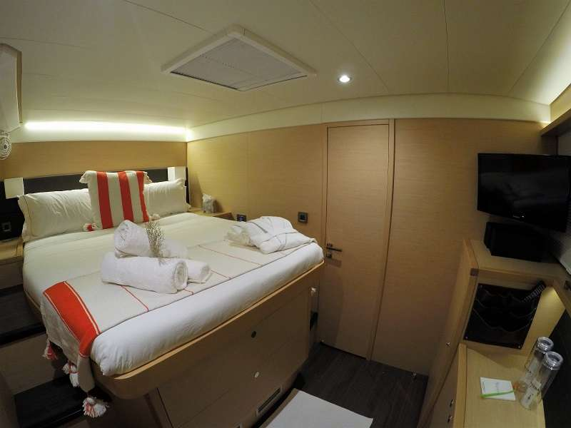 All cabins are ensuite with head and shower.