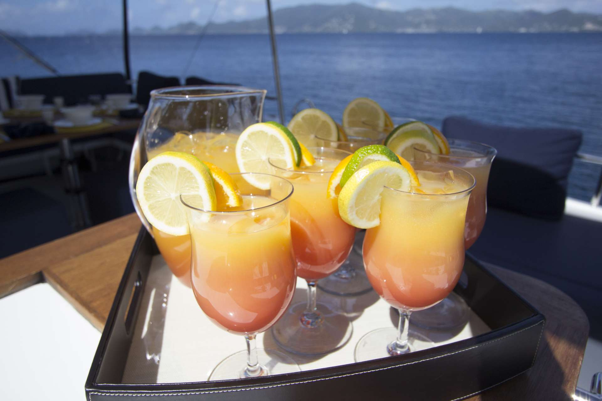 Afternoon Beverages on Flybridge