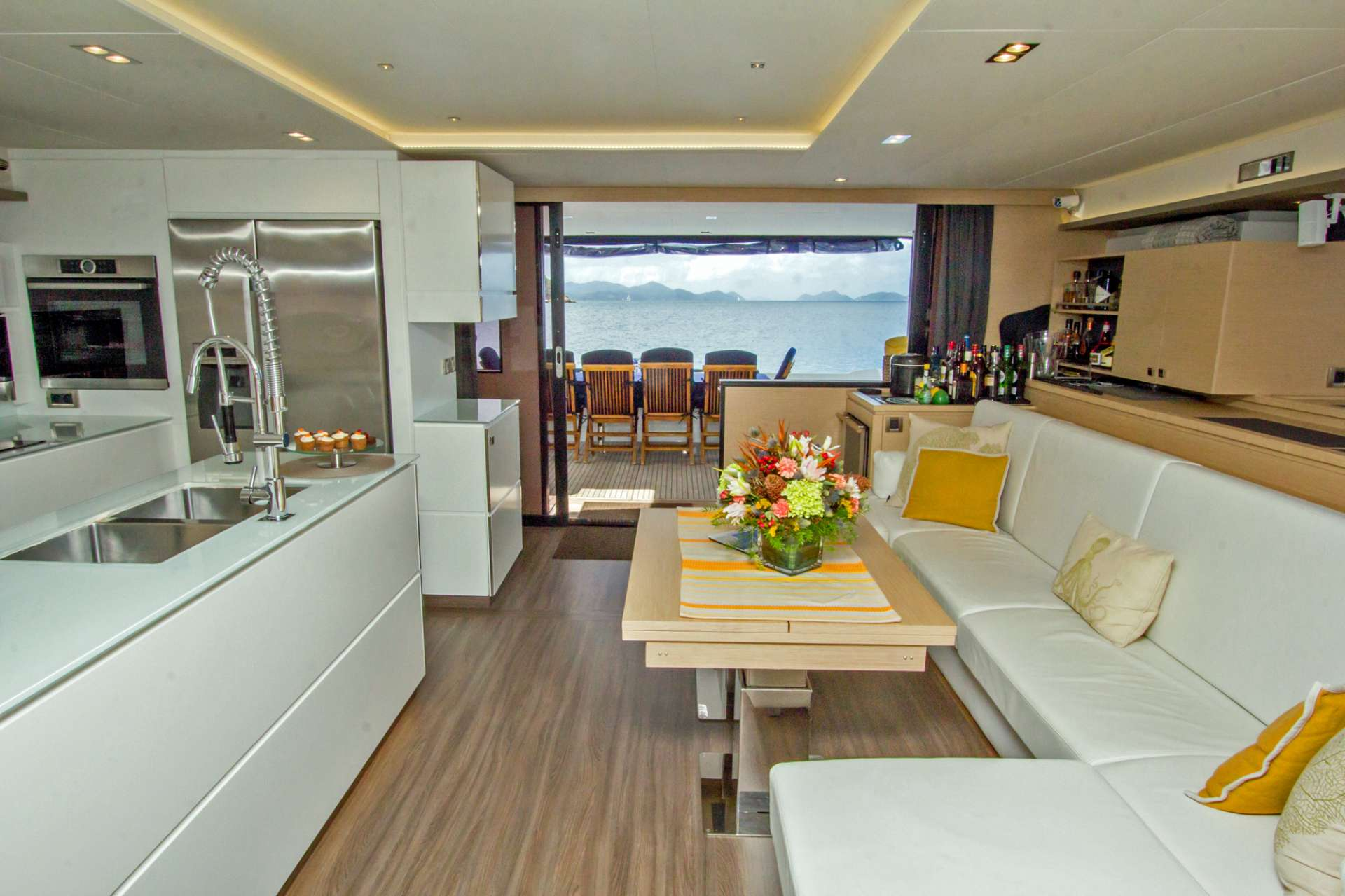 Gorgeous Main Salon & Open Galley