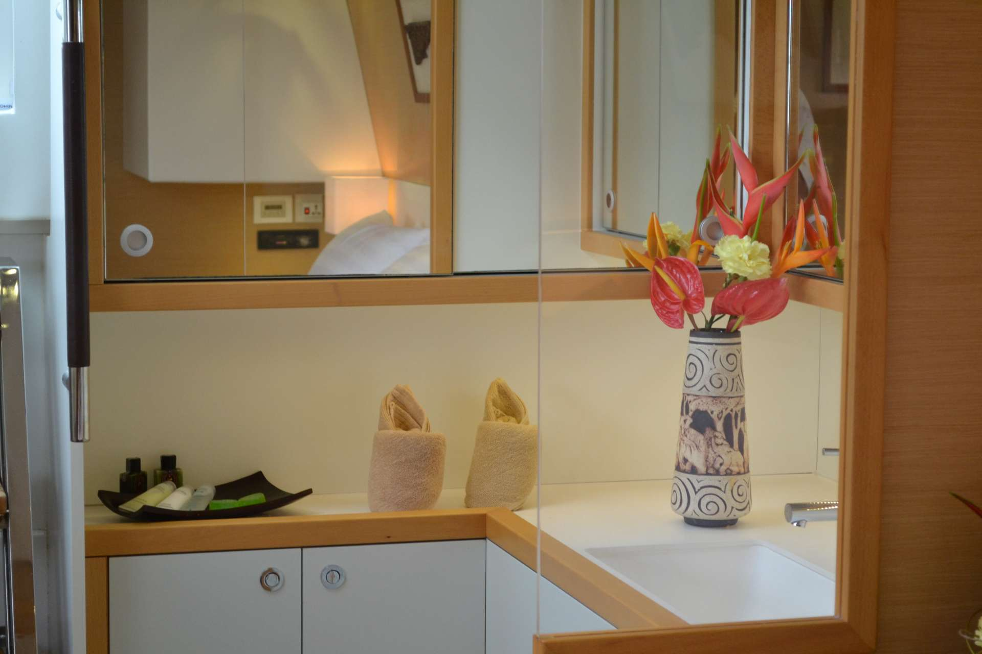 Bathroom and amenities