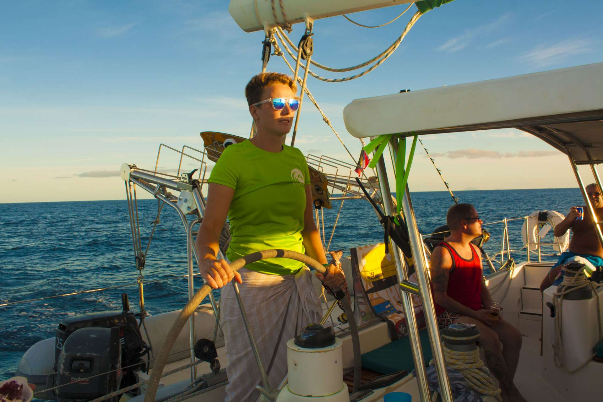 Katrina at the helm