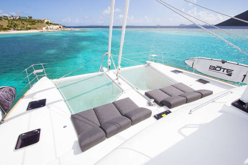 Foredeck lounging
