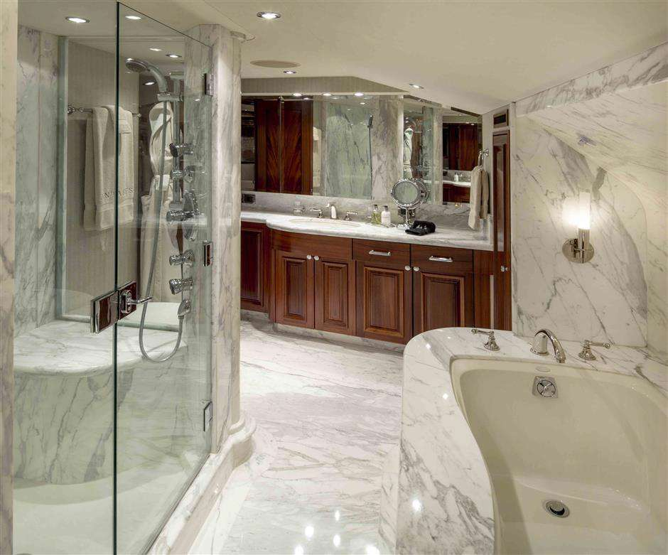 Master Bath with shower and Jacuzzi tub