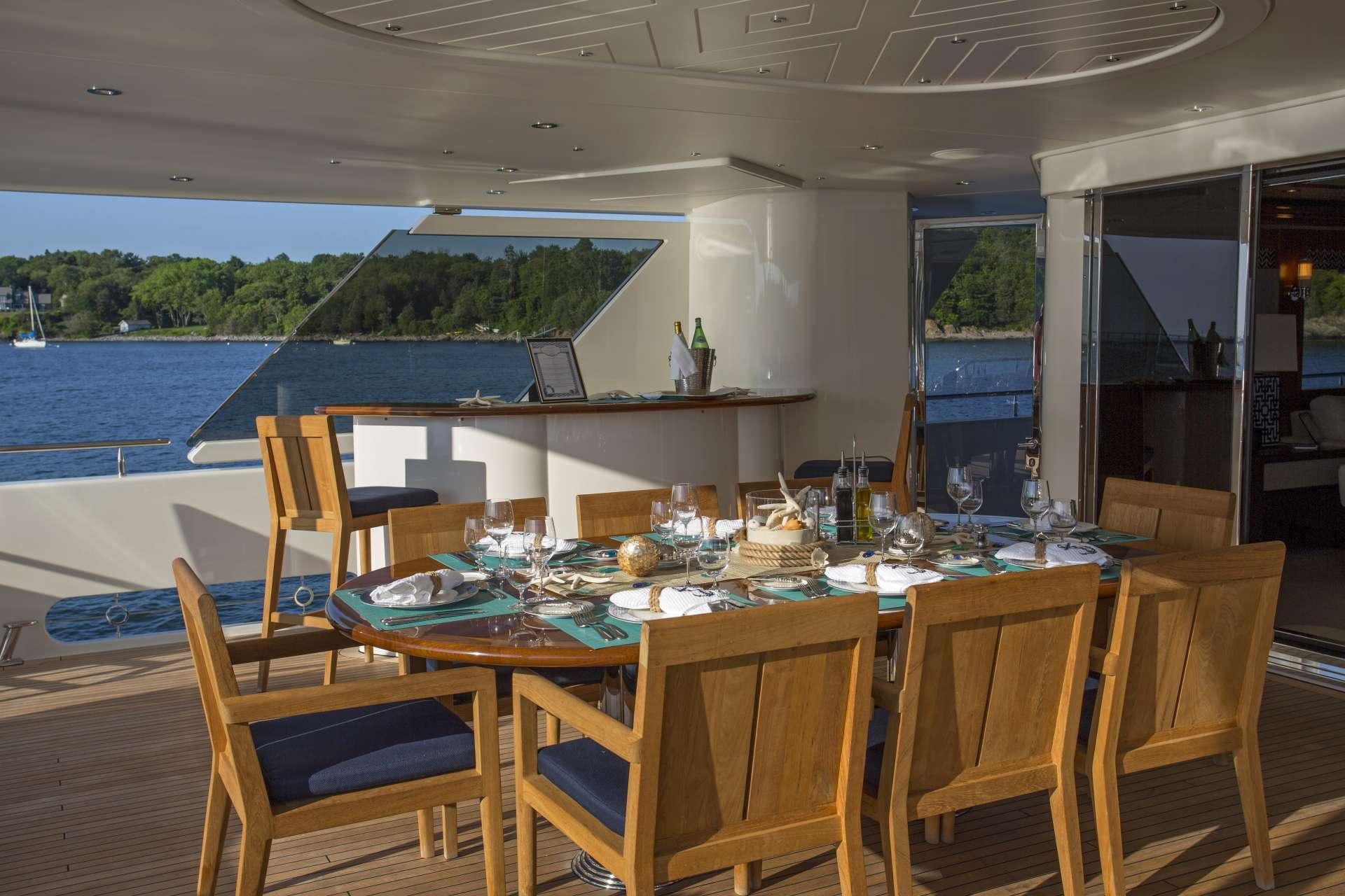 Aft deck, dining