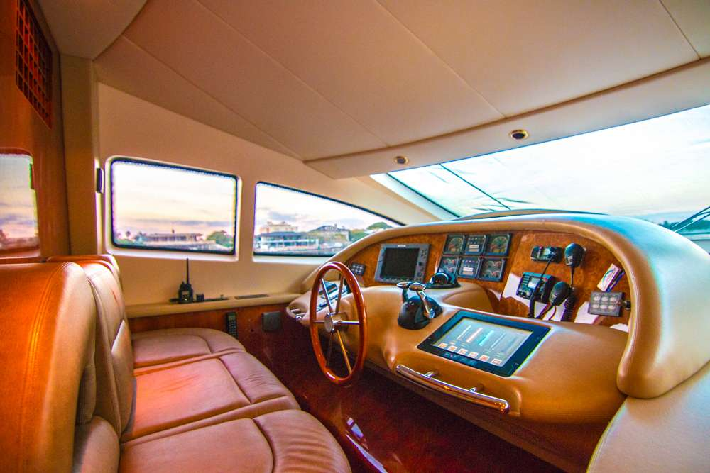 Inside wheelhouse