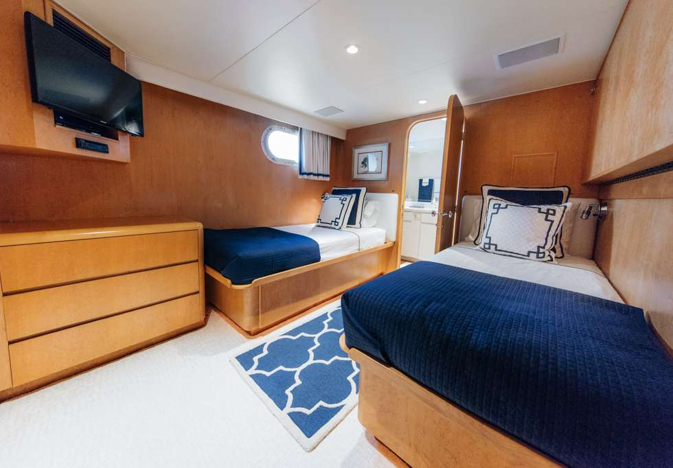 VIP Stateroom 2 - Single beds with pullman