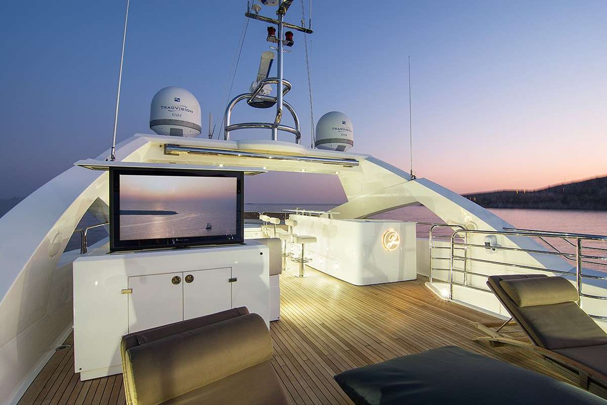 Sun deck TV