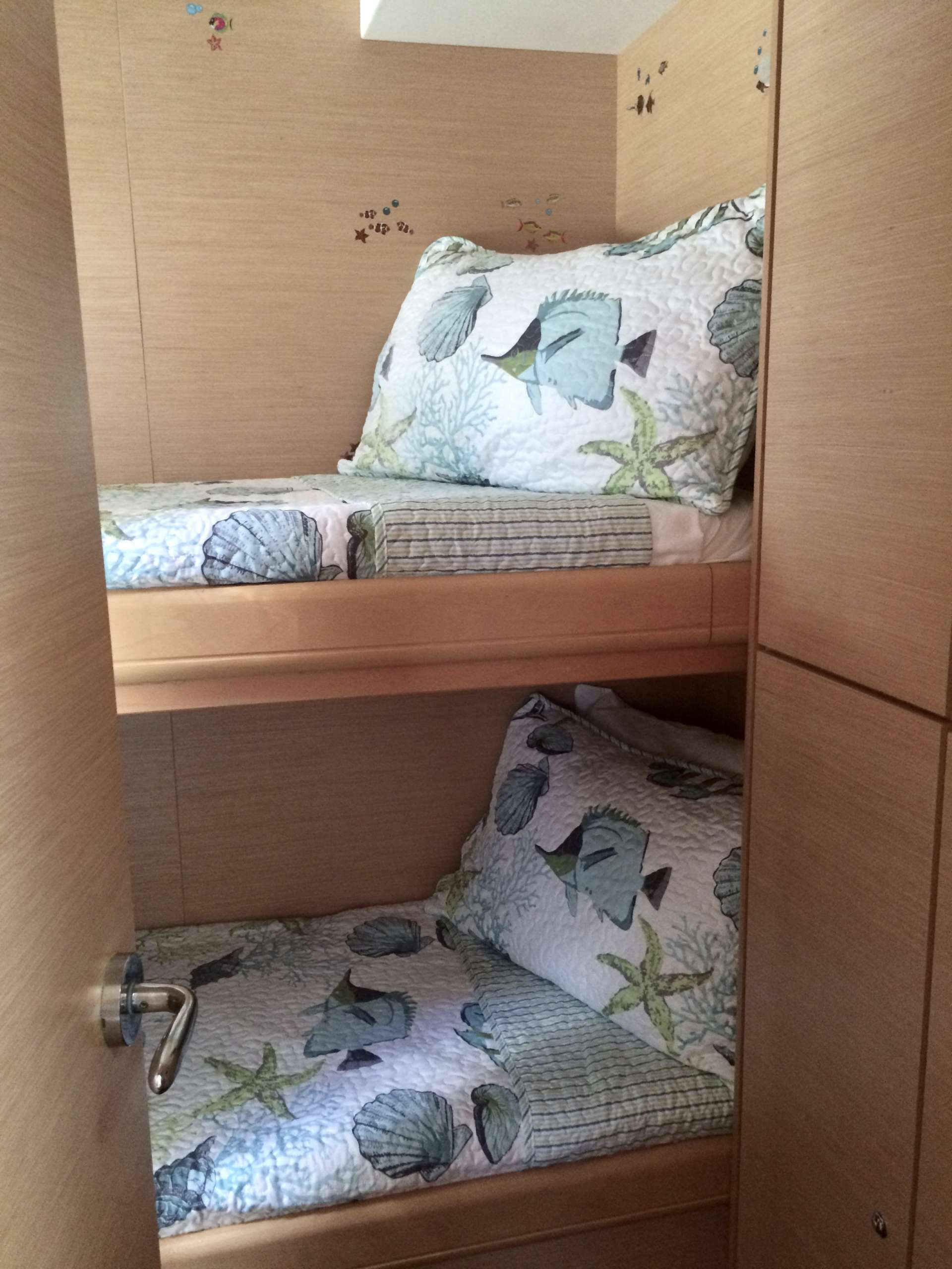 Bunk cabin ensuite -  perfect for kids or for crew when the guests opt for 4 queen cabins