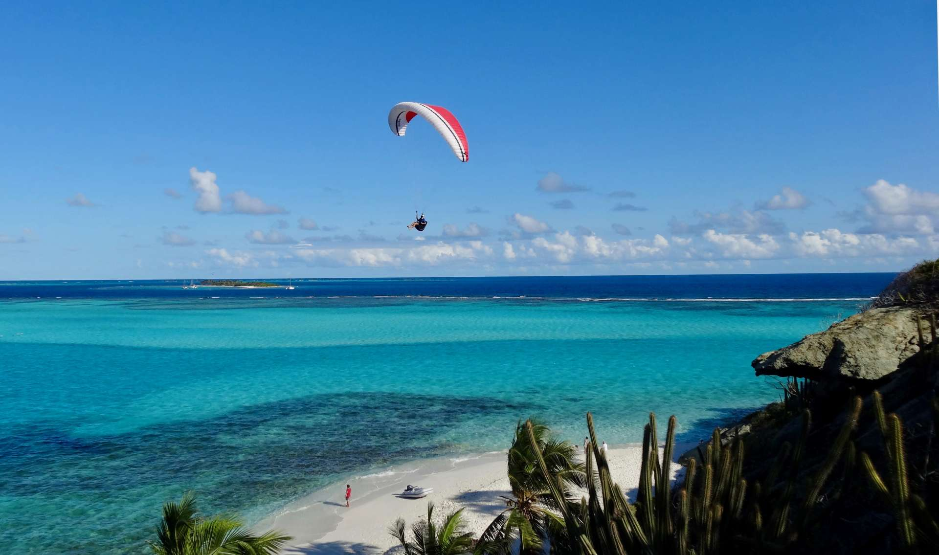 Paragliding in the Grenadines