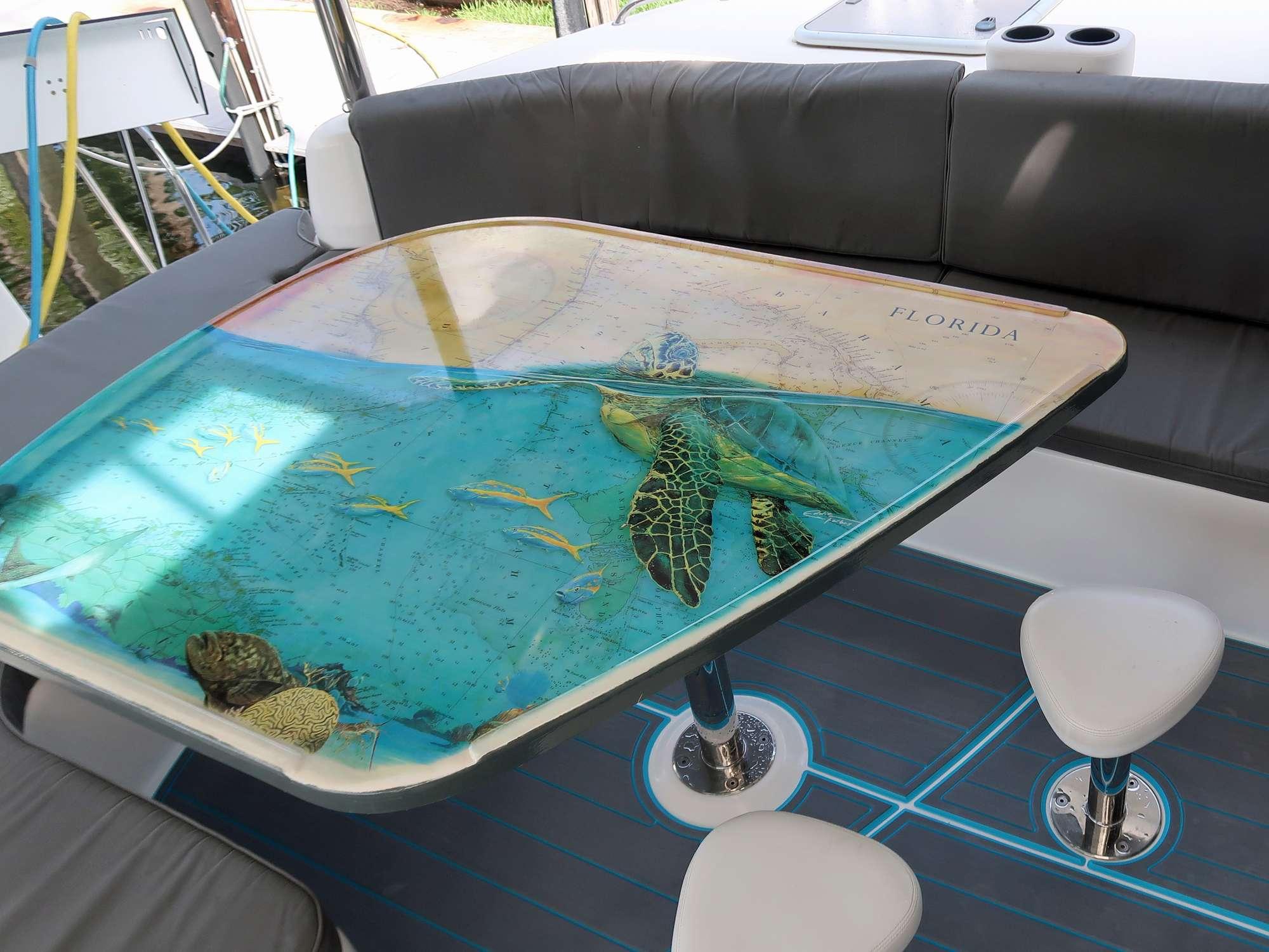 Beautiful cockpit table