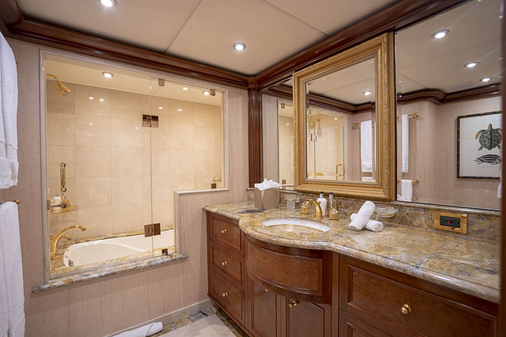King guest bath with tub & shower