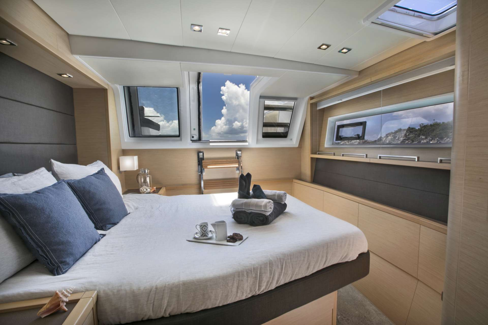 Bright and airy port aft guest cabin
