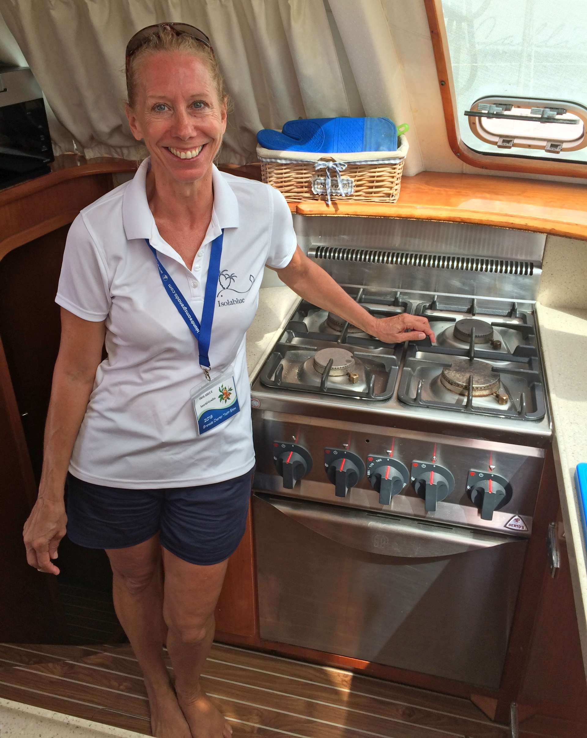 Astrid in the galley