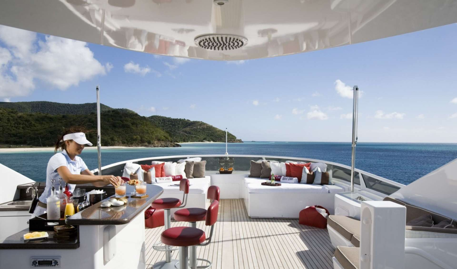 Sundeck with bar
