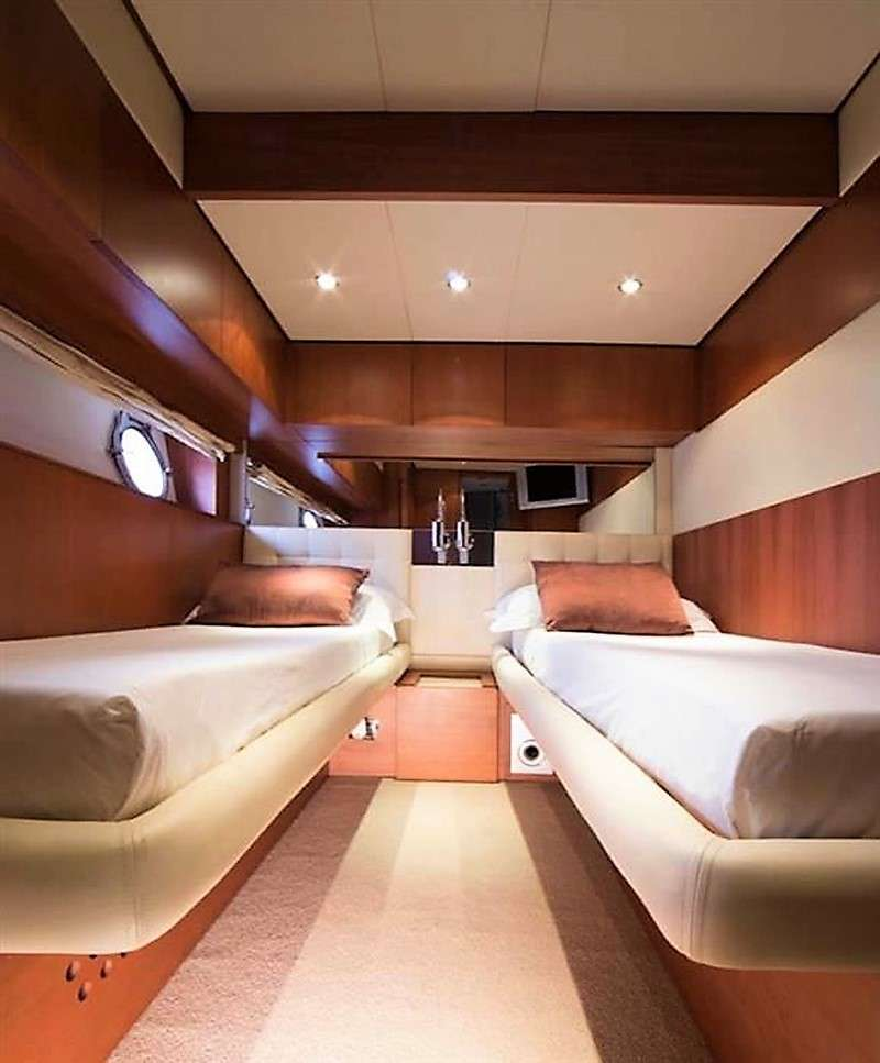 One of the almost identical 2 Twin cabins, both convertible to ultra King