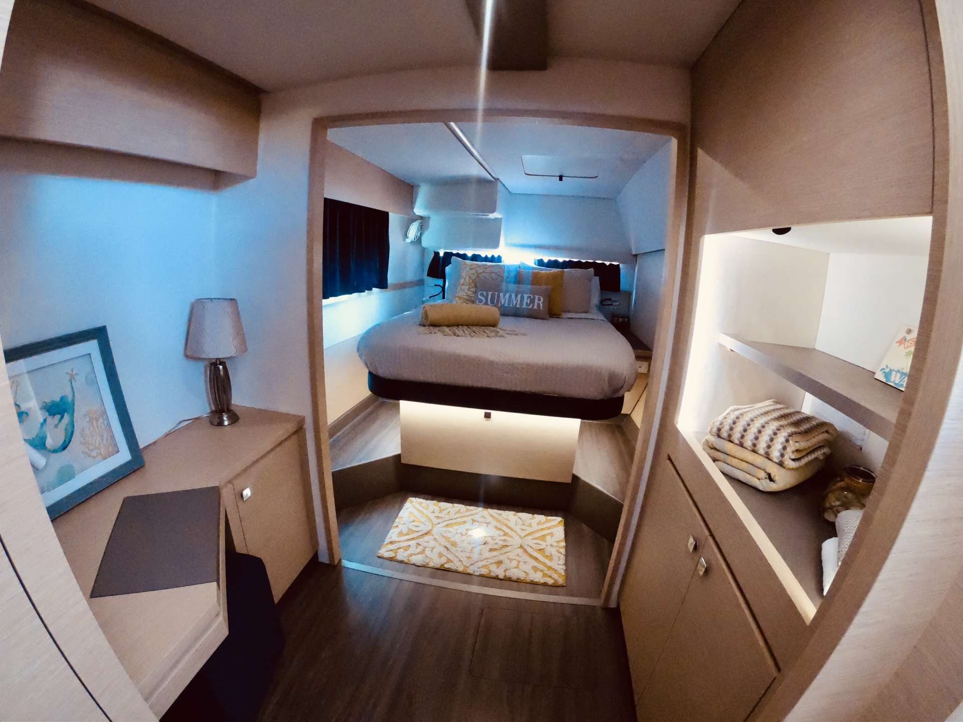 Queen Suite with ample storage and walking space