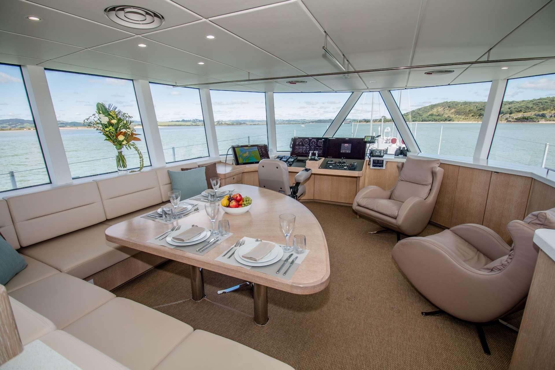 Interiors custom-designed for comfort at sea