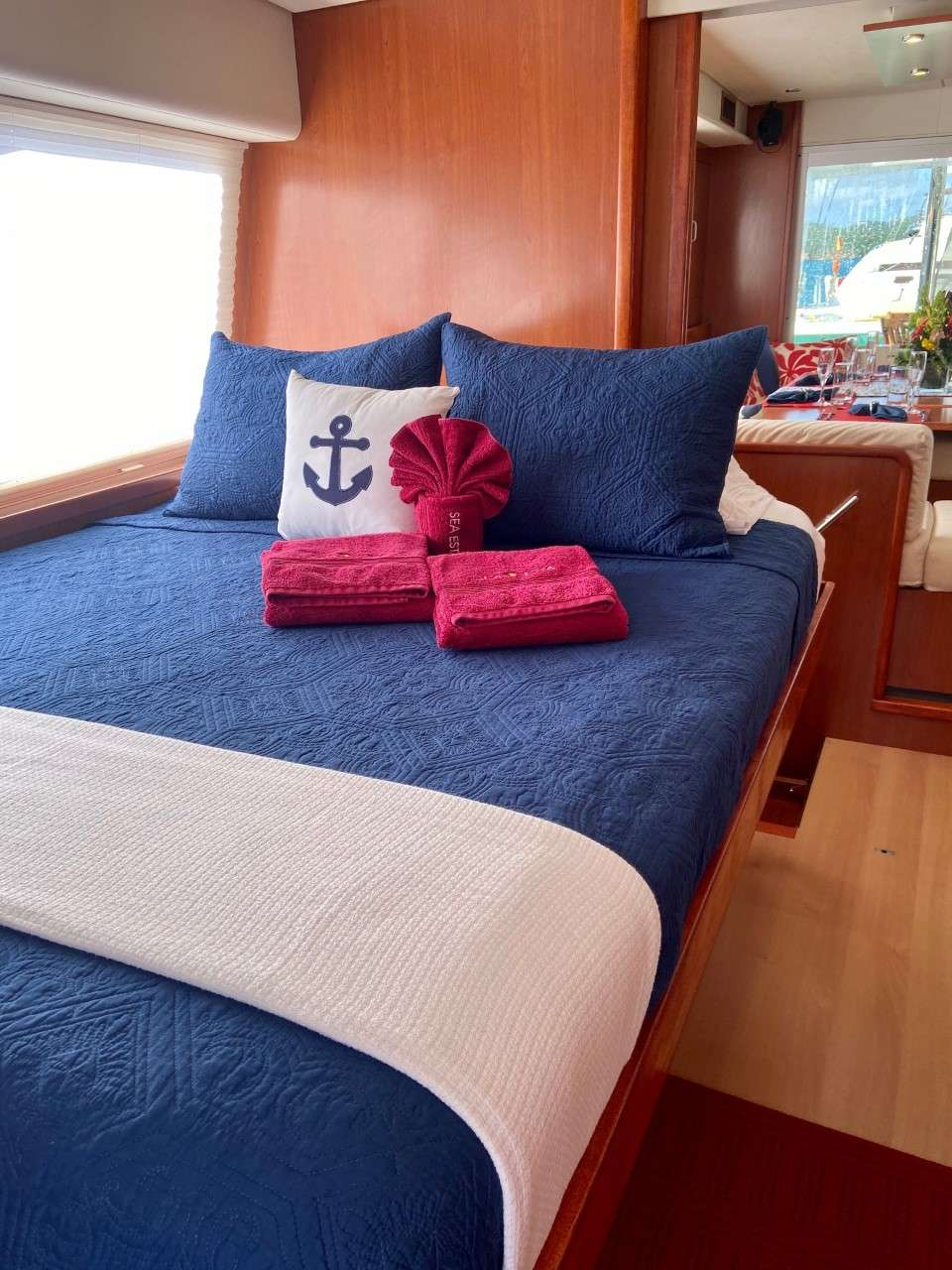 Have the best sleep ever as all staterooms provide memory foam mattress toppers.