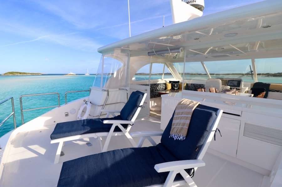 Lounge on the flybridge sundeck