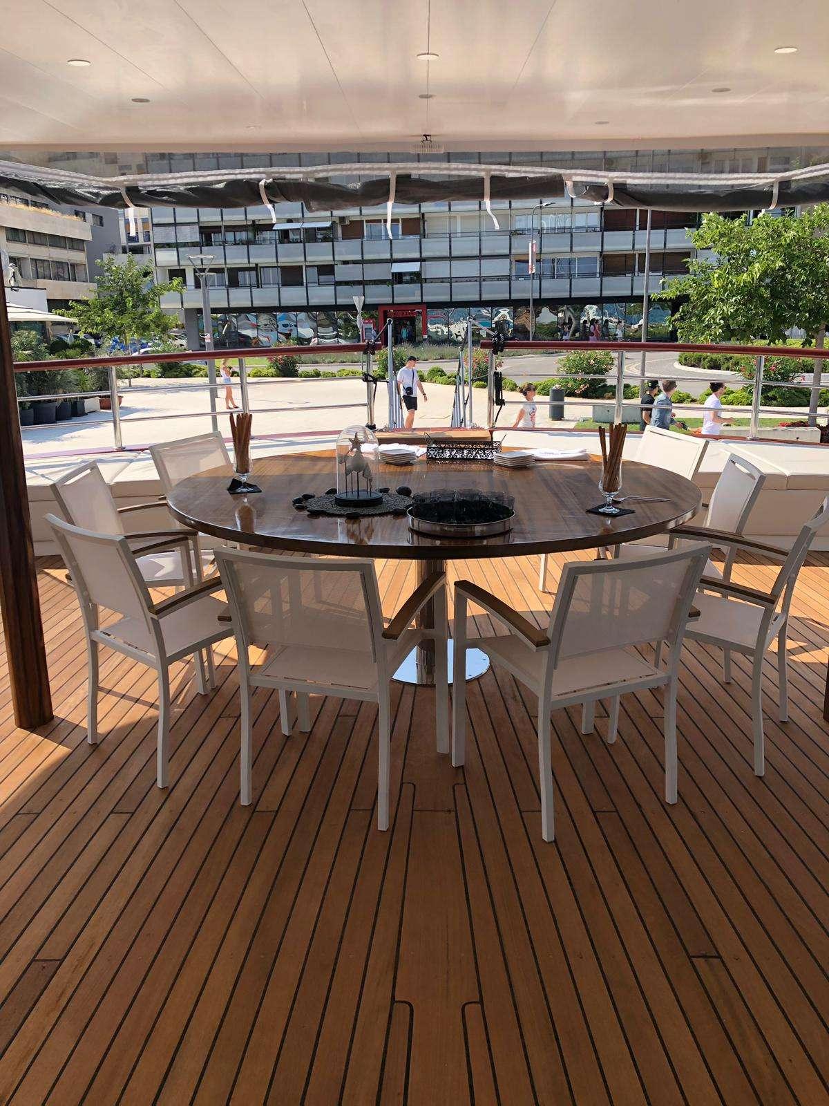 Main deck al fresco dining area