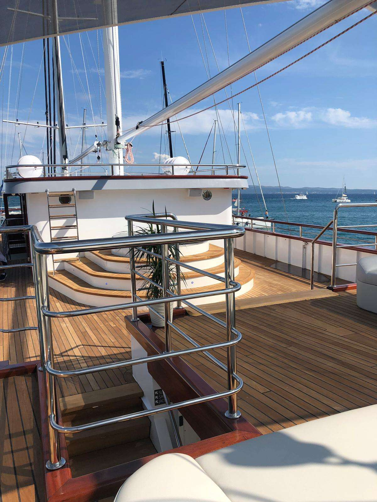 Sun deck; jacuzzi and sauna
