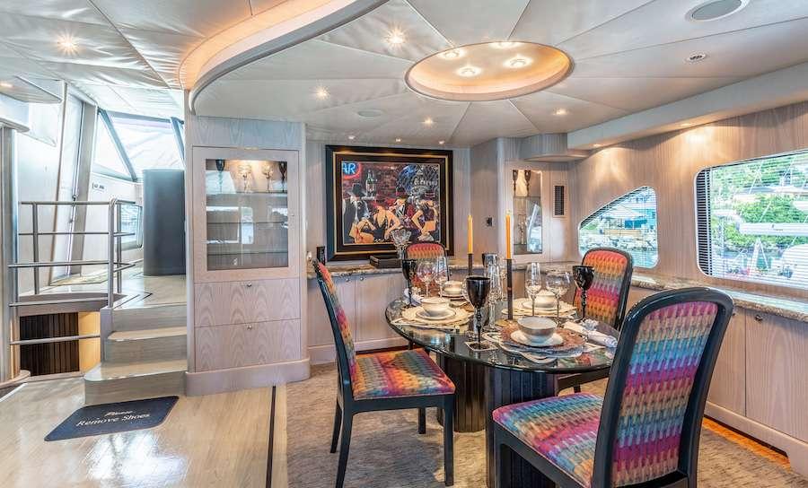 The interior dining area