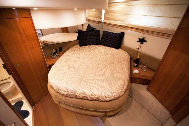 VIP cabin with a large en suite bathroom and separate shower unit