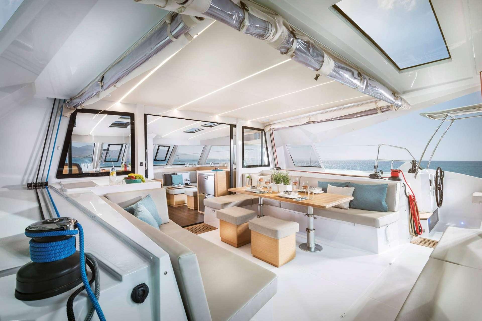 Aft deck and cockpit