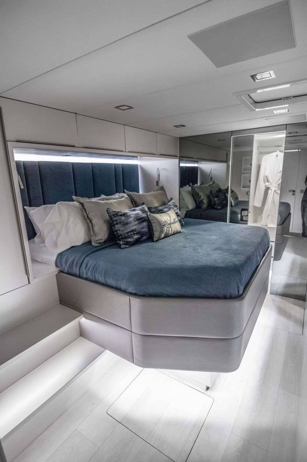 """Master king  suite. All cabins are equipped with 32"""" smart TVs"""