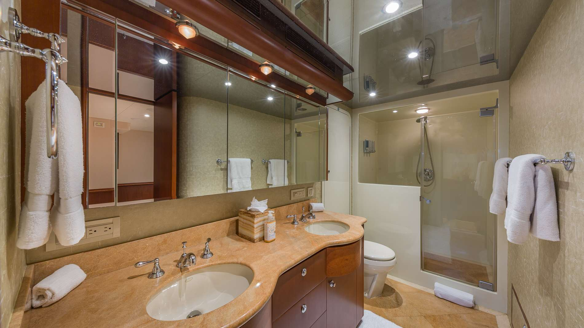 Master En-suite with His and Hers Sink and Stand Up Shower