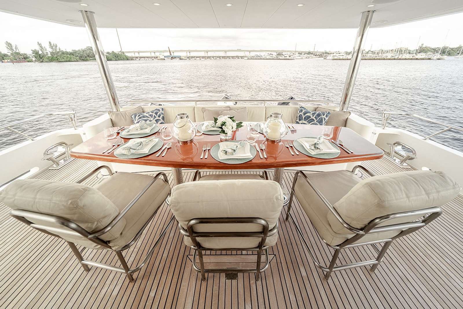 Aft Deck Dining for 6-8 Guests