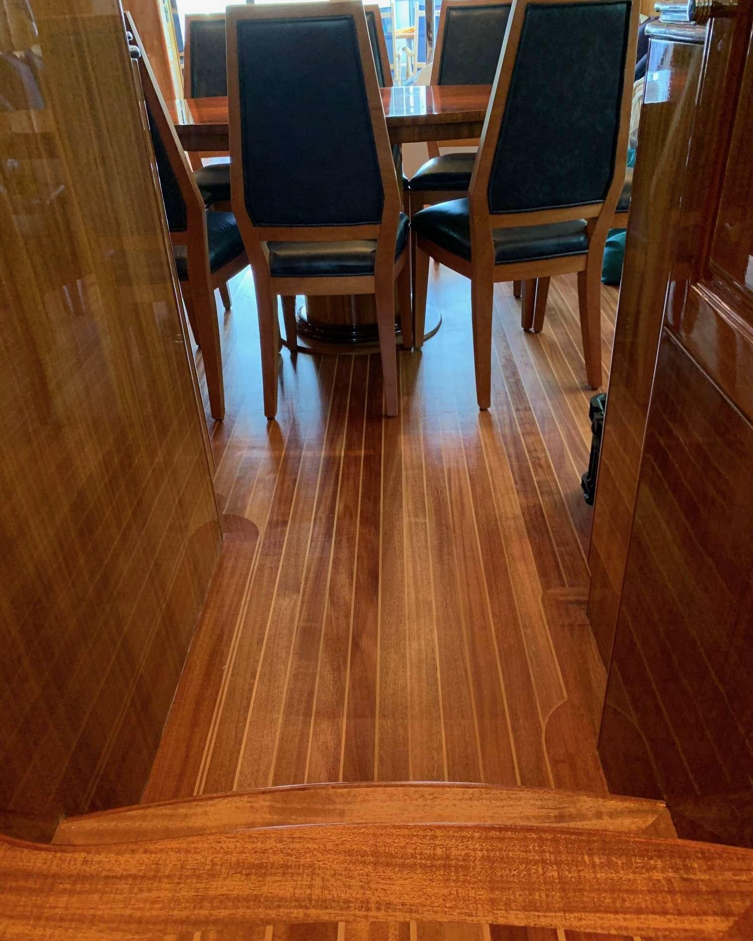 Beautiful new flooring.