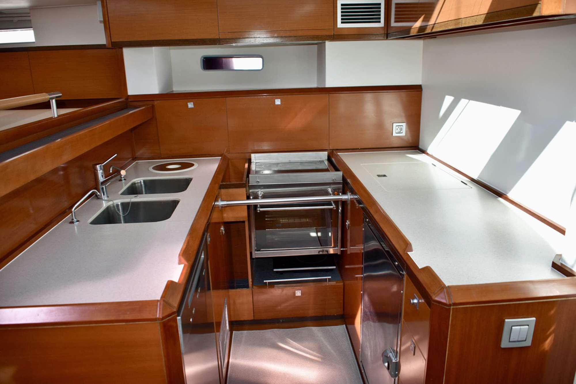 New Modern galley with upgraded amenities