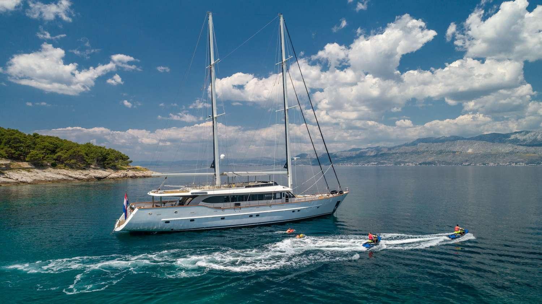 Luxury motor sailer yacht NAVILUX